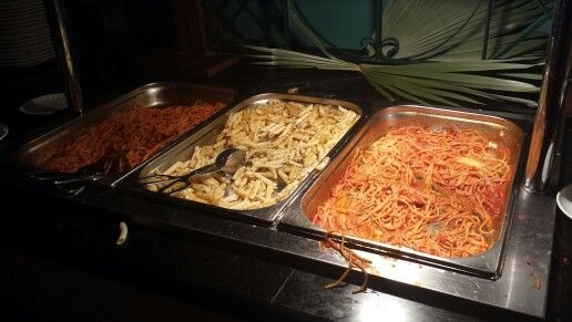 Buffet - pasta but you can do make to order  by a chef as well