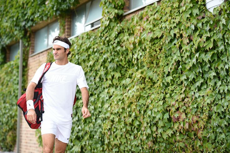Roger Federer at Wimbledon 2015.