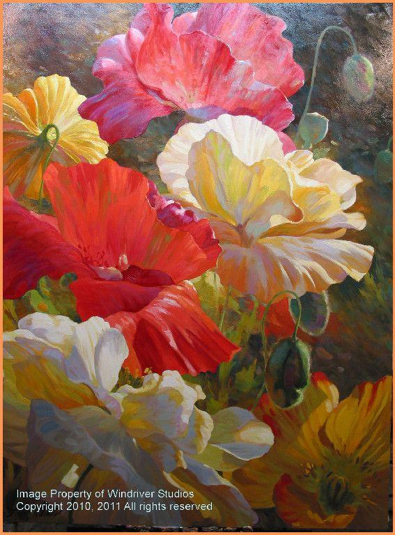 Leon Roulette Paintings Iris Painting Watercolor