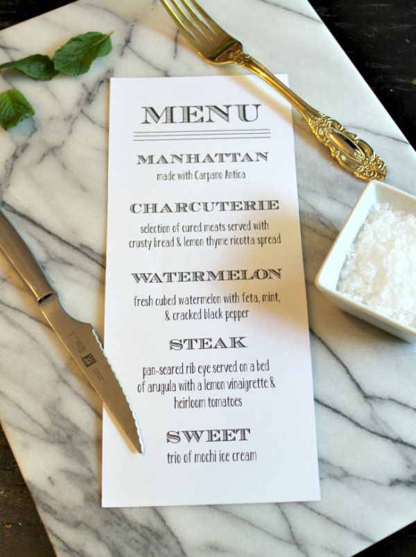 Simple Dinner Party Menu Ideas Part - 43: Menu For Dinner Party · Easy ...