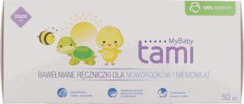 Zawsze się przyda! Tami, MyBaby, bawełniane ręczniczki dla noworodków i niemowląt, 50 szt., Rossmann, Auchan, być może nie tylko tam