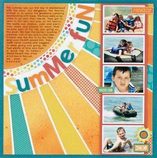 Summer page idea