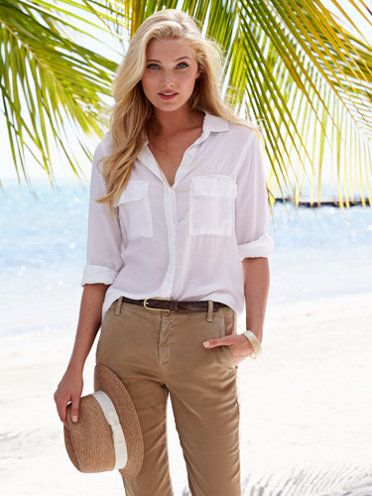 brandi white shirt - safari chic - women - Gorsuch