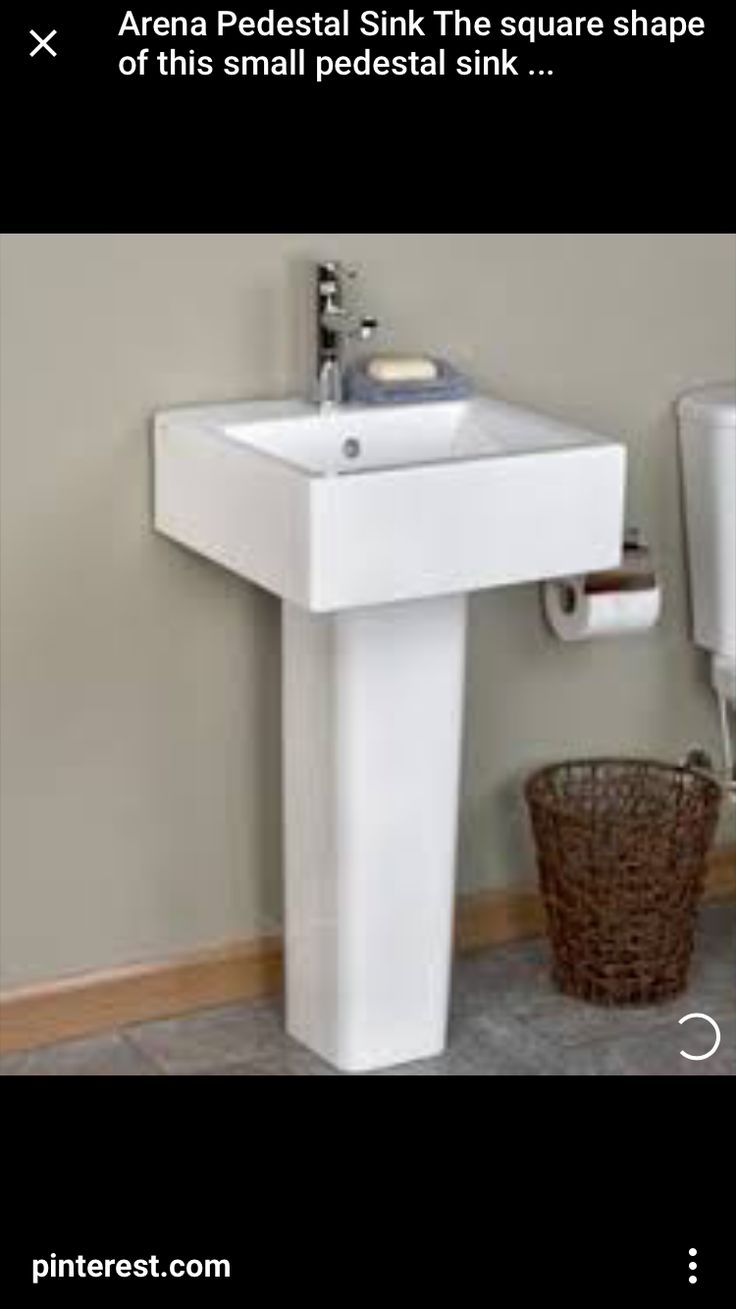 Fine fixtures milan wood white small corner bathroom vanity ebay - Arena Pedestal Sink The Square Shape Of This Small Pedestal Sink Works Well In A Modern Bathroom The Arena Pedestal Sink Is Narrow Enough To Save Space In