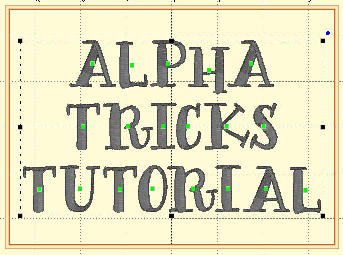 With Glittering Eyes: Mapping Fonts with Embrilliance Alpha Tricks
