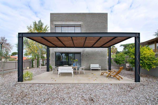 Diseño de Interiores & Arquitectura: Cubo Contemporáneo de Ladrillo Casa Kibuts Padre e Hijo.