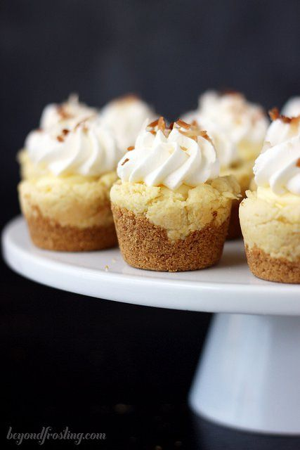 """<p>Coconut Cream Pie Cookie Cups have layers of creamy coconut goodness. <a href=""""http://beyondfrosting.com/2014/07/17/coconut-cream-pie-cookie-cups/"""" target=""""_blank"""">Get the recipe HERE!</a></p>"""