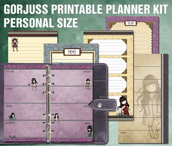 Gorjuss printable planner kit - personal size