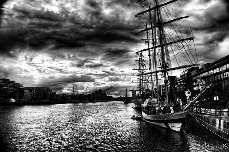 Taken in Dublin during a ship race
