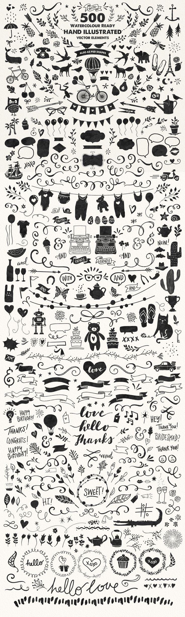 The Mammoth! Watercolour Kit by Nicky Laatz on Creative Market