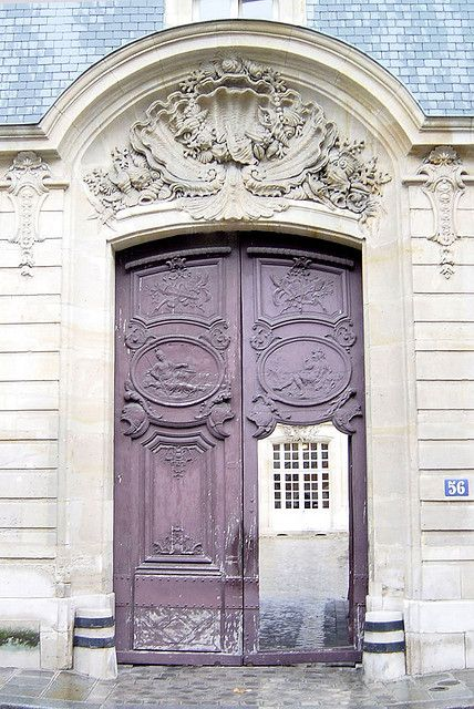 The Most Beautiful Doorway in Paris: Rue de Varenne by curry15, via Flickr  built between 1719 and 1727.