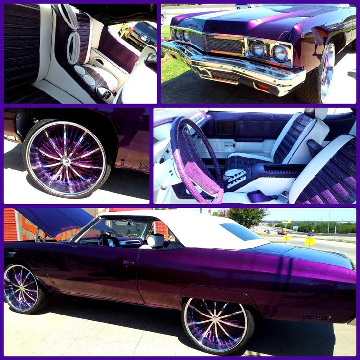 House Of Kolor Kandy Burple Custom Grille Purple Alligator An White Leather Inerior