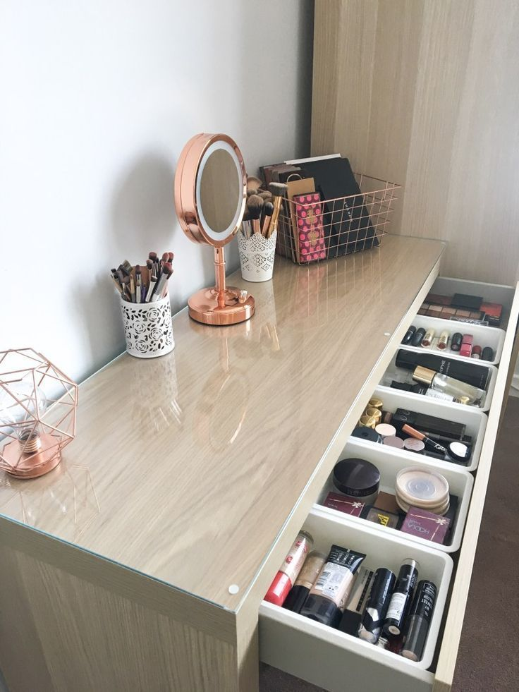 My Makeup Storage Featuring The Ikea Malm Dresser Dresser Featuring Ikea Diyhomeha In 2020 With Images Ikea Malm Dressing Table Malm Dressing Table Ikea Malm Dresser