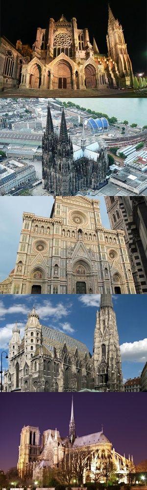Cinque maestose cattedrali gotiche