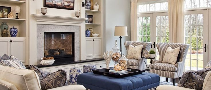 Hamptons living room, Bookcases and Lighting on Pinterest