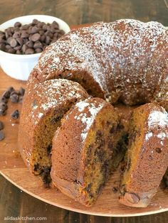 Pumpkin Chocolate Chip Bundt Cake takes less than 10 minutes to prepare using simple pantry ingredients!