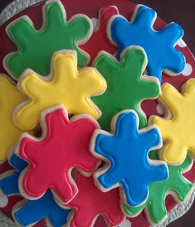 Puzzle cookies  April is Autism Awareness month!
