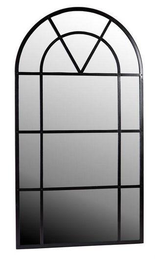 Duże lustro ze szprosami Metal Czarny 120xH220x2,5cm Dekoracje Francuskie