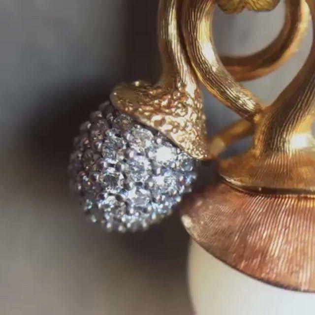 A perfect pair. Moonstone and diamonds set in 18k. OLE LYNGGAARD COPENHAGEN…