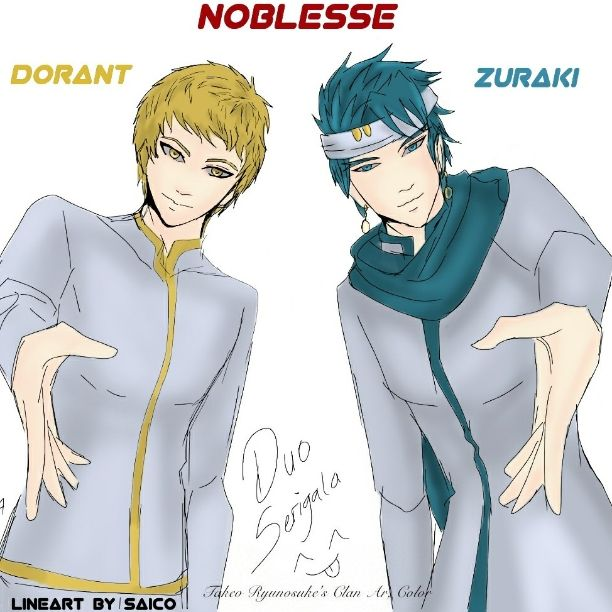 Dorant and Zuraki, warna by Takeo ryunosuke, lineart by saico