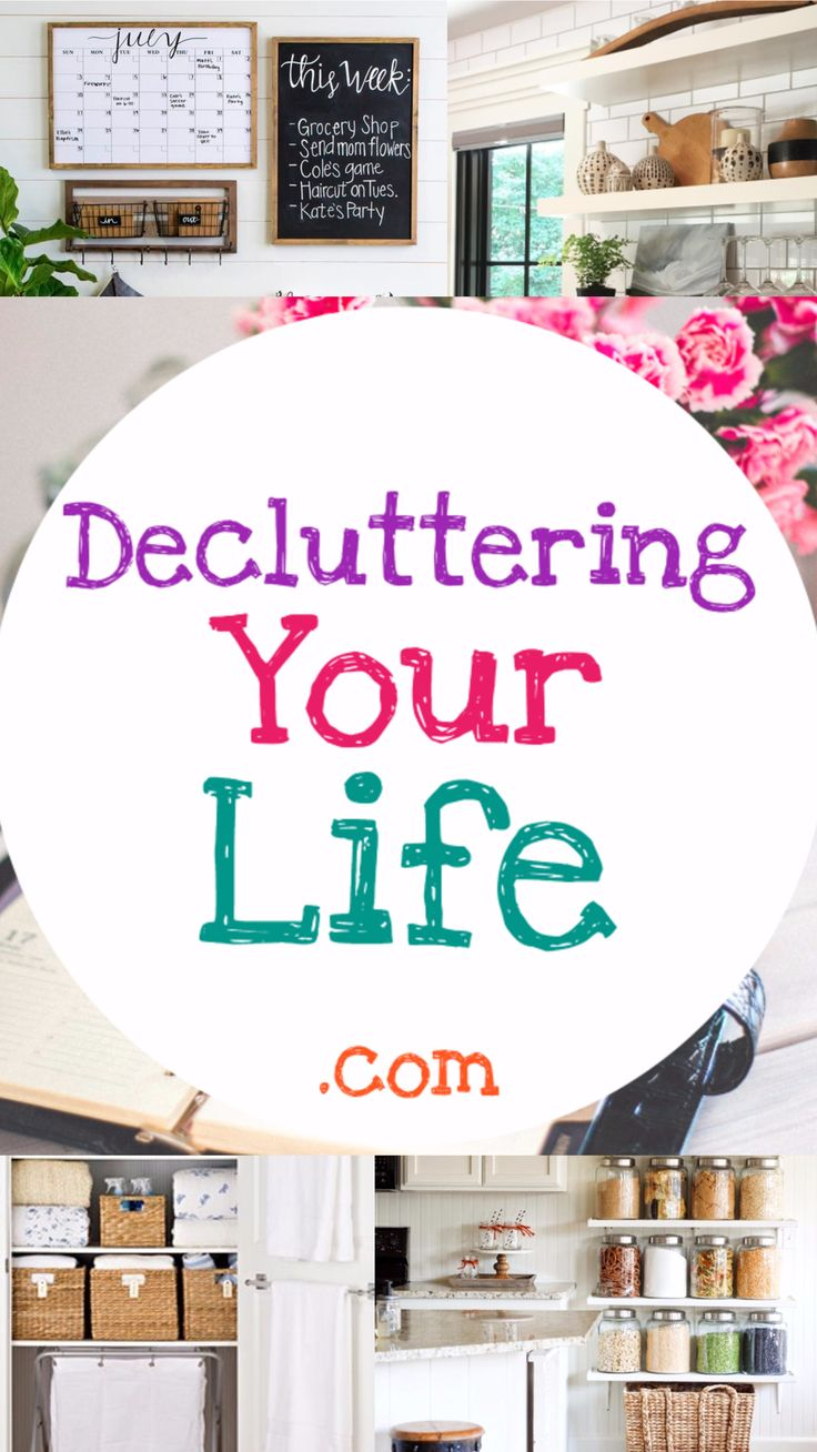 Declutter and Organize every part of your life and home. Simple decluttering and organizing tips for REAL people with REAL lives - DeclutteringYourLife.com