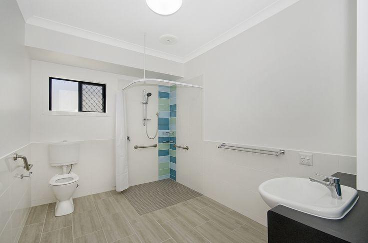 Proudly Built By Martin Locke Homes #martinlockehomes #townsville #livablehousing #builder #ndis #bathroom #tiles #awardwinning