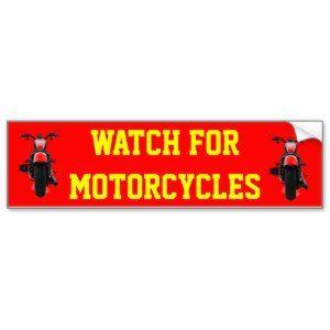 "LOUD MUFFLERS SAVE LIVES WATCH FOR MOTORCYCLES CAR BUMPER STICKER (<em data-recalc-dims=""1"">$4.45</em>)"