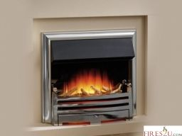 """The Flamerite Regan 22"""" inset electric fire is now available. This Flamerite electric fire comes with a Radia Flame 3D picture which produces a strong and radiant flame image with a deep fuel reflection."""
