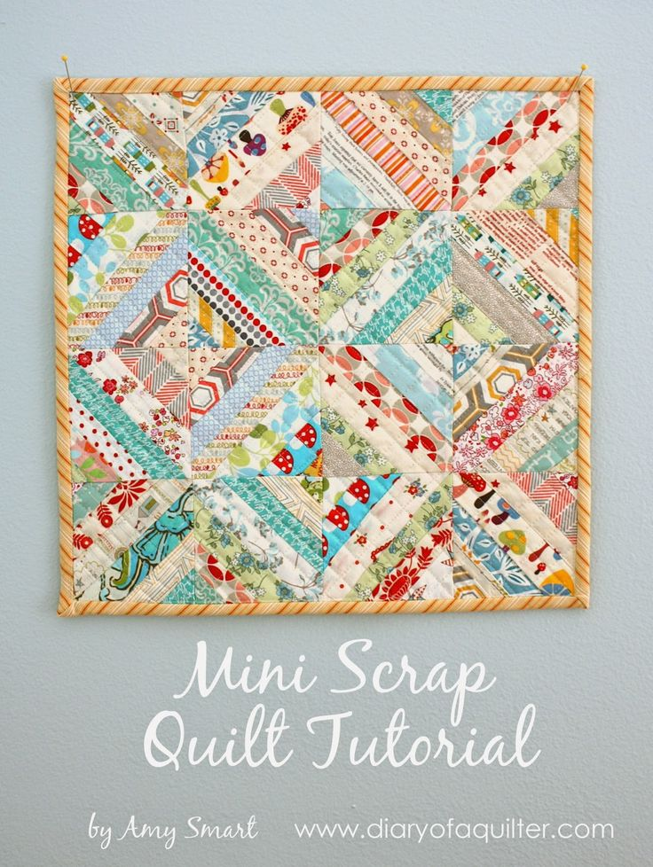 Gorgeous Mini Scrap Quilt Tutorial from @amy_u_smart - this is so perfect for using up scraps!