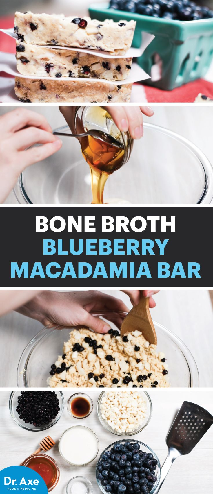 Blueberry Macadamia Bars with Bone Broth Protein