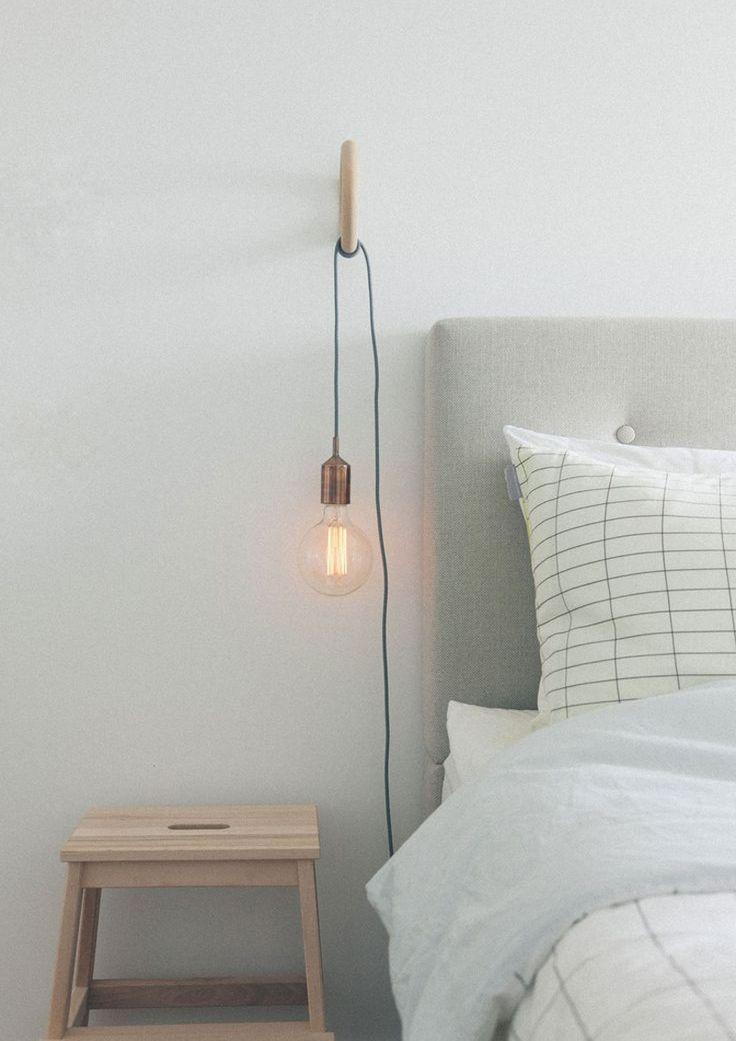 """Un """"provvisorio"""" che, in un attimo, diventa un """"definitivo"""" elegante e informale. Ecco la tendenza delle lampade nude per l'illuminazione della casa #DesignOutfit #DesignTrends"""