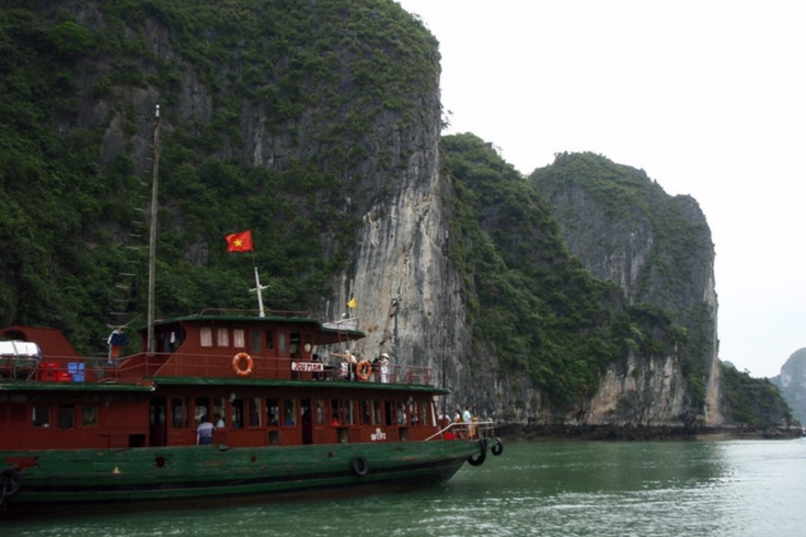 Pandy ; Ha Long Bay is the famous place in Vietnam. It's located in north-east Vietnam and it's a lot of islands.