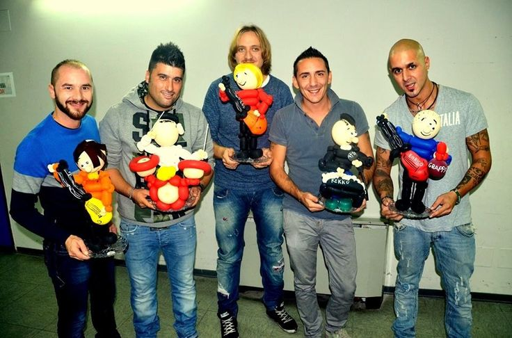 I Modà con le nostre sculturine di palloncini
