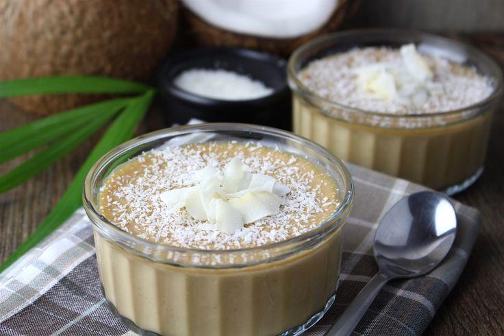 Natillas de coco (sin huevo y sin leche)