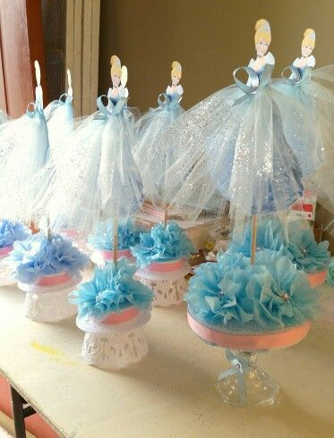 Cinderella centerpieces for a birthday party