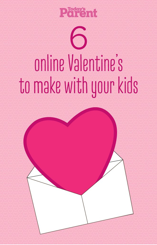 6 valentines you can make with your kids