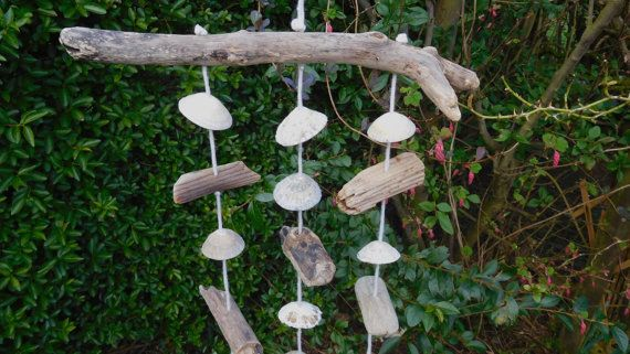 Driftwood and Sea Shell Wind Chime Approx: 55cm x by WoodnStuffUK