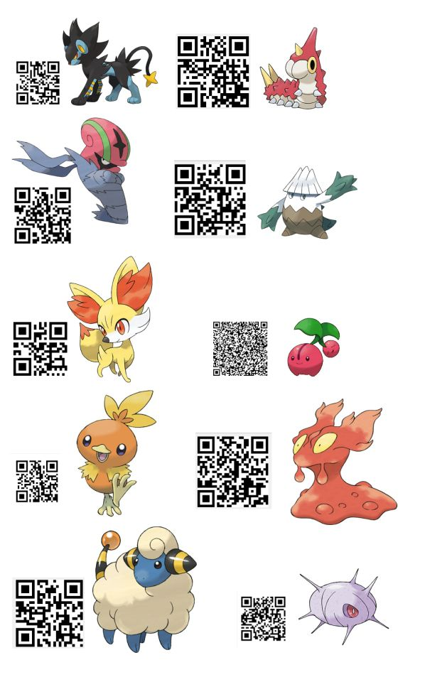 qr codes for pokemon sun and moon for all