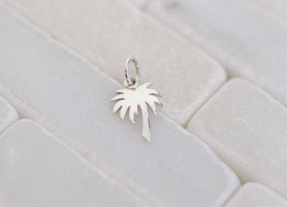 Sterling Silber Palm Tree Palm Tree Charm von LittlePepperJewelry