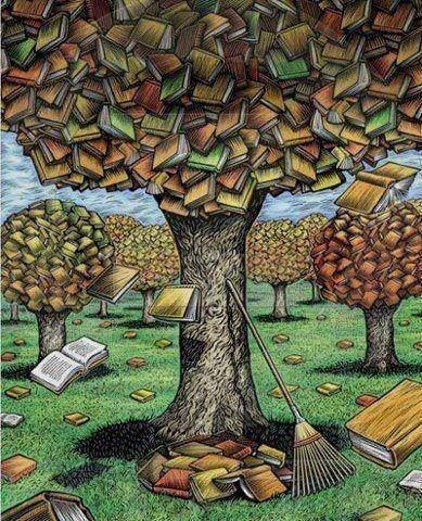 #book tree. I think I would be in heaven! Repinned by http://scatterbooker.wordpress.com/
