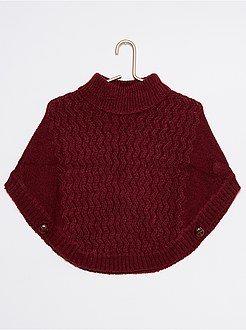 Jerséis, chaquetas de punto - Poncho de cuello vuelto - Kiabi