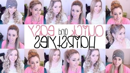 Lovely Easy Quick Hairstyles For School Compilation