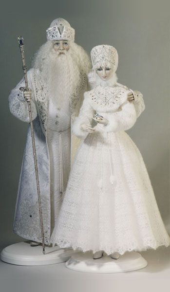 Father Frost and Snow Maiden Alexandra Koukinova......FABULOUS DOLLS FOR MY WINTER BOARD