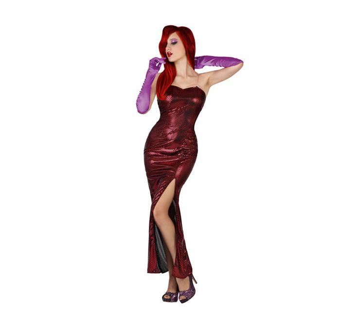 Disfraz de Jessica Rabbit o Estrella de Cine rojo sexy para mujer. Talla M-L = 38/42. Incluye vestido. Guantes, peluca y zapatos NO incluidos. Los guantes y la peluca lo podrás ver en la sección de Accesorios. Perfecto para imitar a Jessica Rabbit en la película de: ¿Quien engañó a Roger Rabbit?
