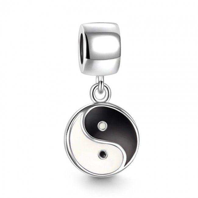 Pingente Ying Yang de Prata de Lei 925 - Compatível com as principais marcas
