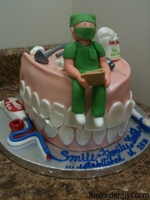 The Dentist Cake   Are you a dental assistant studying for a DANB or class exam?  Visit my website for custom study guides! Www.dentalassistantstudy.com