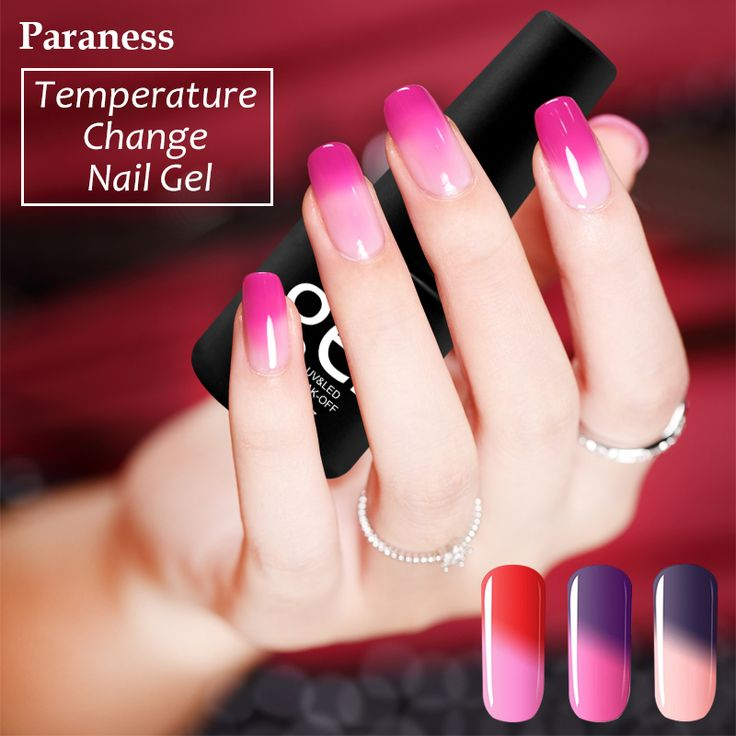 Paraness Temperature Change Nail Color Chameleon UV Candy Color 8ml Gel Nail Polish Long Lasting Soak Off Lucky Gel Varnish  Price: 0.96 USD