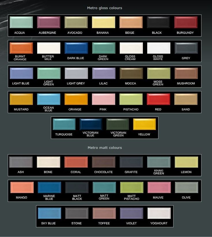 Metrofliesen Farben 75x15 Cm Kche Pinterest Bricks