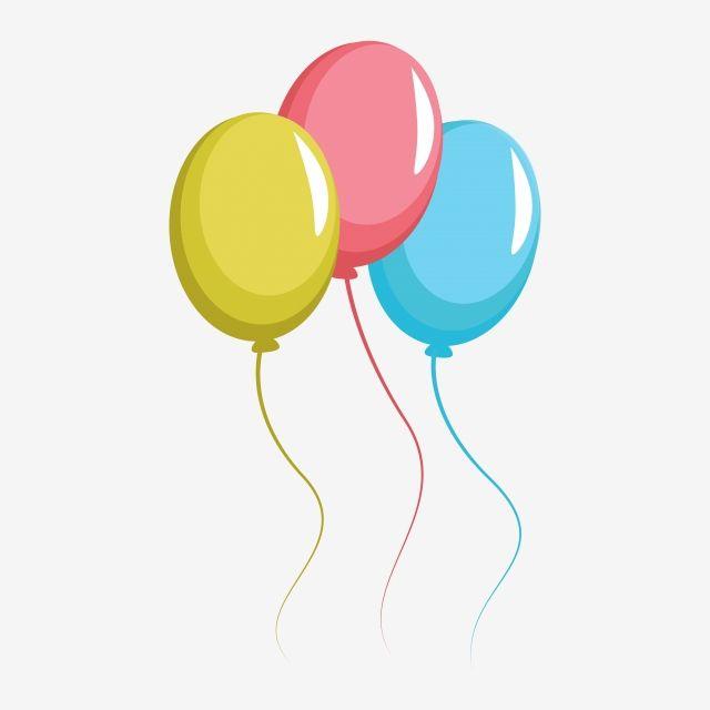 Ballon Birthday Party Clipart Vector Png Element Ballon Birthday