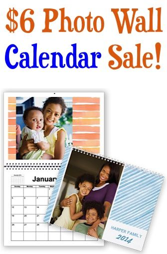 Custom Photo Wall Calendar Sale: $6.00 + s/h!  {these make great gifts, too!}